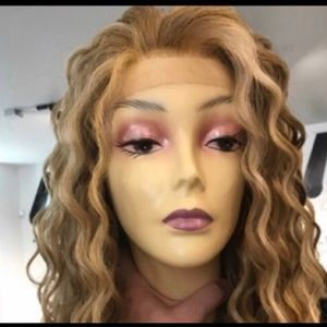 Blonde Wig Lacefront wig Curly Sexy Long Freepart